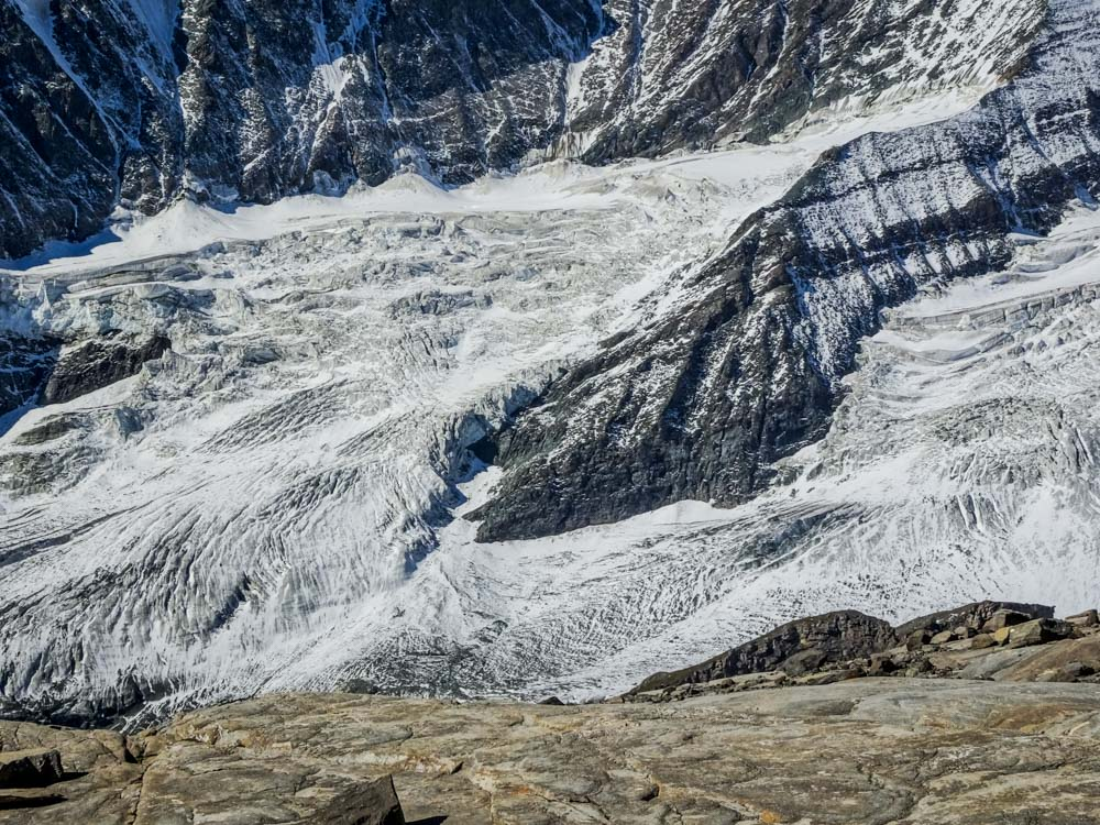 Glocknerkees und der Aufstiegsweg zur Biwakschachtel für Großglockner - Nordwandtouren