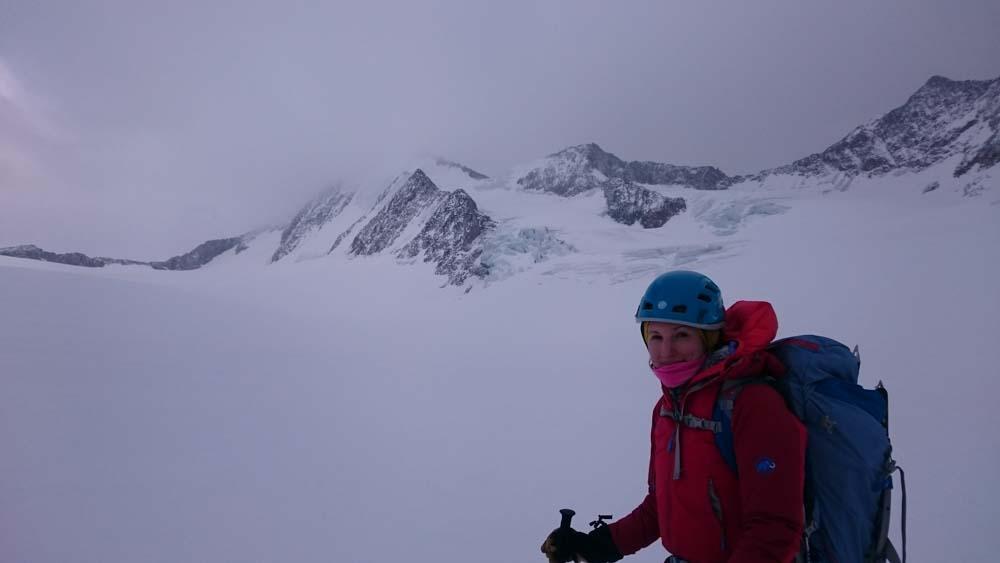 Hintere Schwärze – Skitour mit Nordwand-Eisklettern (Ötztaler Alpen/Tirol)