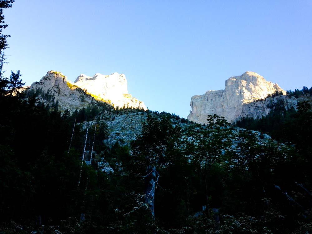 Die Gipfel des Hochschwab-Kamms.