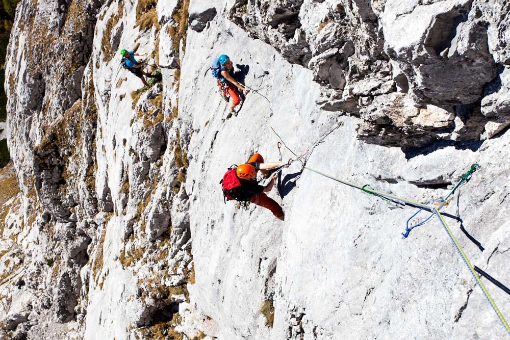 Mit Teamwork (VII; VI A0) aufs Hohe Brett (Berchtesgadener Alpen/Bayern)