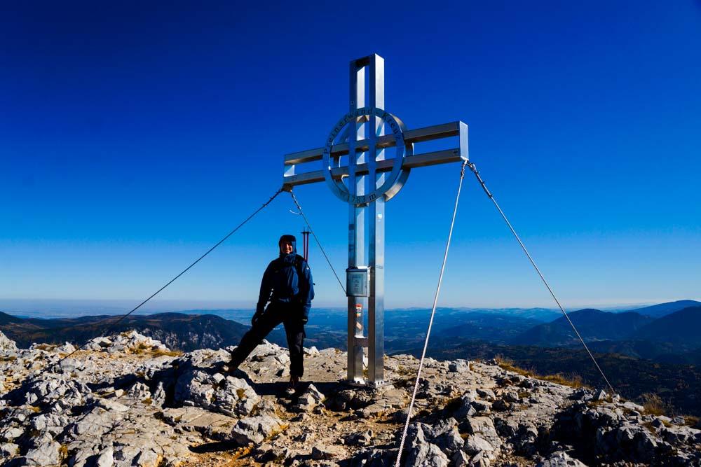 Am Gipfel der Preinerwand - Traumwetter