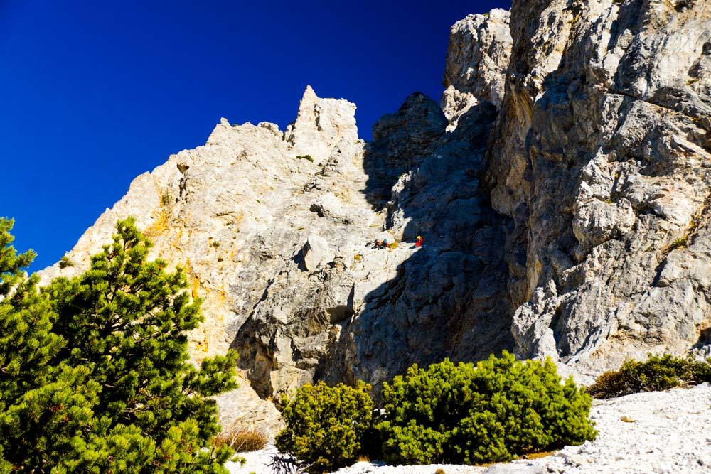 Einstieg in den Hans von Haid Klettersteig (D) - Preinerwand