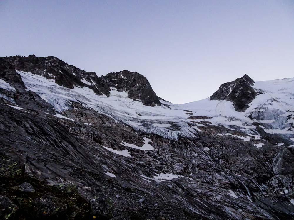 Gutes Wetter - Guter Morgen - mit Blick auf Floitenspitzen und dem Felsköpfl