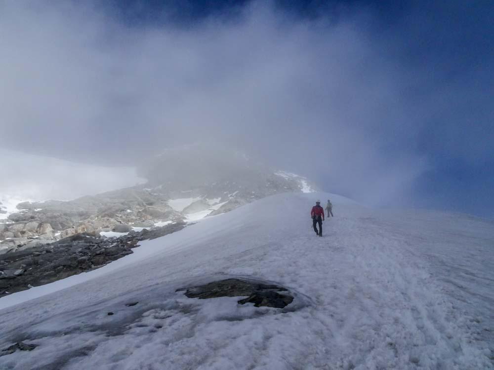 Abstieg über den Südgrat des Felsköpfl Richtung Schwarzensteinhütte