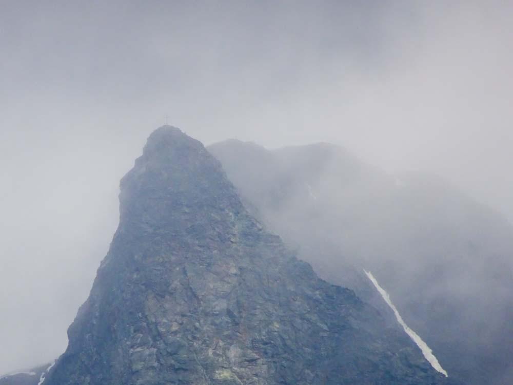 Der Blick auf den höchsten Berg des Tals - den Glockturm (3353m)