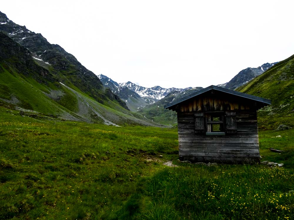 Die alte Zollhütte im hinteren Radurschltal