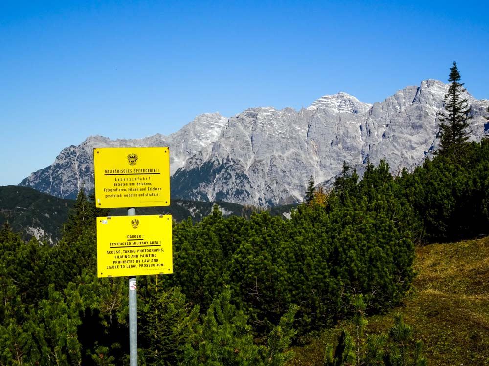 Blick Richtung Loferer Steinberge