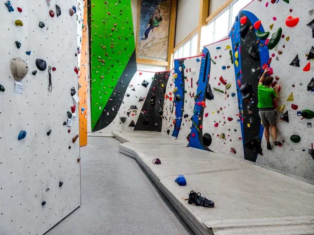 Die 2.Seite des Boulderbereichs